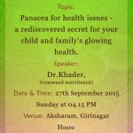 Panacea for health issues